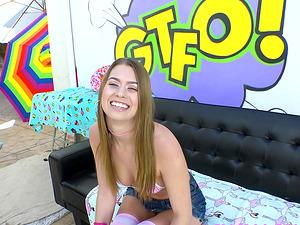 Jill Kassidy gagging on a big cock