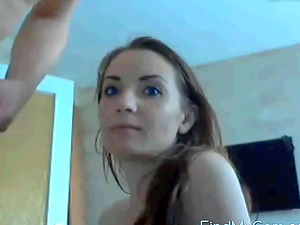 Fucking CamSlut face sperm on mouth swallow
