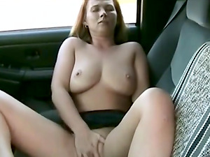 wife makes herself cum on the front seat and on the hood.  real good orgasms.
