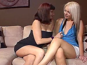 Big Tit Black-haired & Her Blonde Female Paramour.