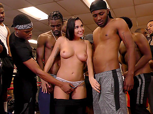 Naughty Karlee Grey likes to suck more than one dick at once