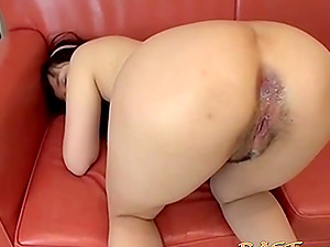 Japanese wife with exposed ass gets fucked from behind
