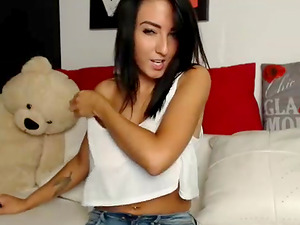 Big tits latina girlfriend teasing on cam