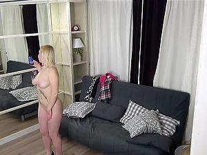 Naked czech nudist girl make photo for her BF