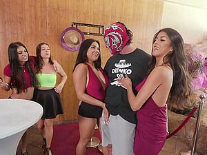 Lucky guy gets to fuck stunning Sophia Leone and her friend together