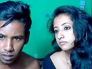 Indian guy gets his cock blown and gives quickie fuck to her neighbor girl
