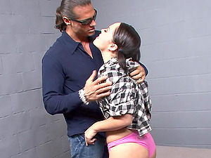 Kristina Rose gets some serious anal pounding in jail and receives a huge facial load