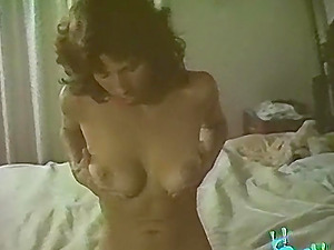 Vintage hairy mature licked then fucked in bed