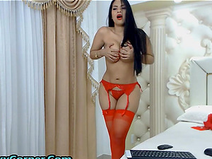 Sexy bitch is putting monster dildos in her super tight ass