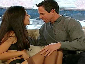 Catalina makes love with Peter North and gets a facial cumshot jizz shot