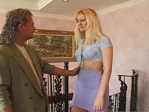 Blonde Bi-atch In Corset Gets Fucked.