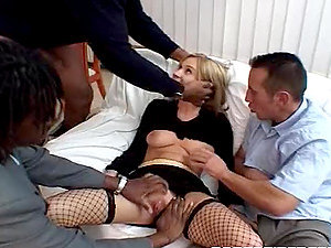 Crazy whore going crazy sucking as much man rod as possible