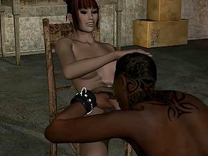 Naughty girl fucks Blade the vampire hunter who is imprisoned in the basement