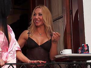 Spanish Gigi Love Squirts On Balcony