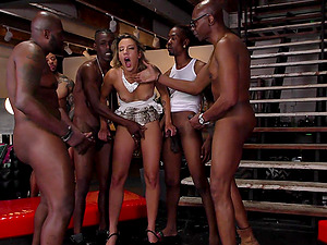 Gorgeous Sophia Grace gets fucked hard by naughty strangers