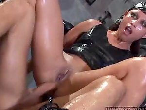 Hot Buttfuck Bang-out for Spandex Clad Brown-haired Stunner Jayna Oso