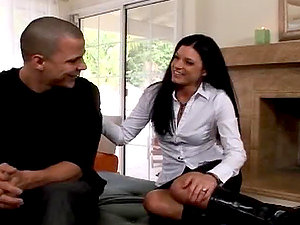 Stunning Exotic Dark-haired Cougar India Summer Inhales and Fucks