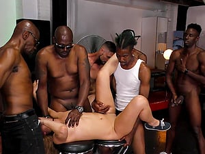 Moka Mora needs more than only one black cock to get pleased