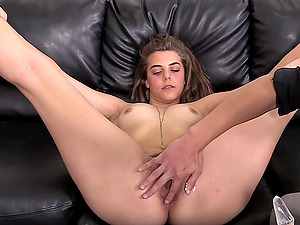 Lucky guy gets to bang good looking Lilyana on the couch