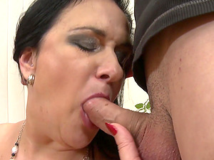Nothing pleases two guys like fucking a mature girl together