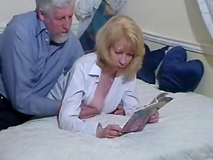British wife gets fucked by her hubby in bed.