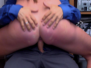Horny security guard talked Sofie Marie into banging with him