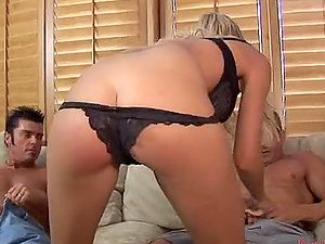Amazing Blonde Ges Jizm On Her Twat