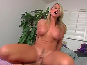 Blonde Stunner Has Her Cock-squeezing Pucker Drilled After Displaying Her Big Tits