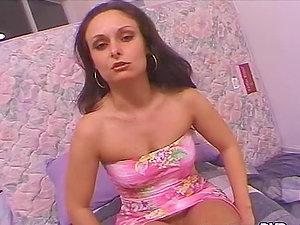 Daniella Rush the pretty black-haired nubile deepthroats big dick