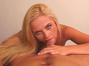 Bobbi Eden drives a dude crazy with a brilliant oral pleasure