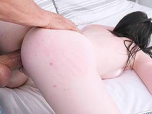 Athena Rayne gets her tiny cunt stretched with a fat dick