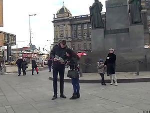 Czech slut fucked by a stranger