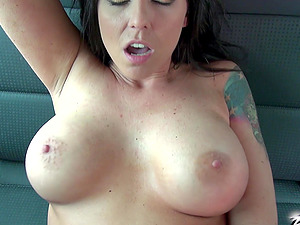 Simony Diamond can't wait to have her tits covered in jizz