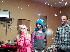 Crazy party threesome with Maddy Rose and her roommate Piper Perri
