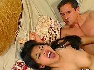 Kitty Monroe and Mika Suntan share Peter North's hard dick