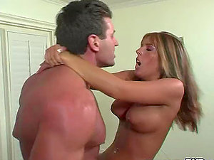 Lee Stone fucks April Rain in the gym and cums on her face