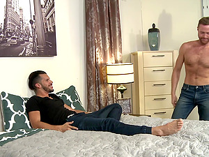 Gay couple fuck all day in a hotel room on a vacation