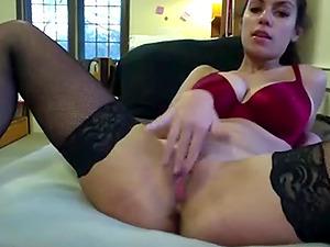 Beautiful busty babe films herself cumming