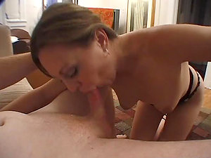 Huge-chested honey Trista Post likes that massive manstick in her mouth