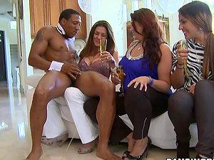 Many Broads Suck Stripper's Dick.