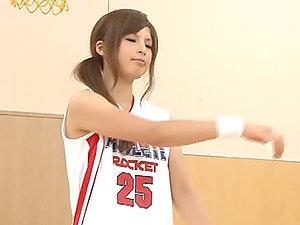 Kinky Japanese Sports Model Kawashima Asuka Playing Basketball Naked
