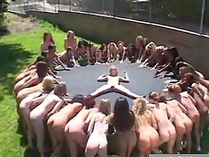 Ultimate Squirting Party on a trampoline
