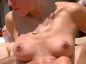 Topless on the Beach. Wonderful girls. Beautiful tits and amazing bodies.