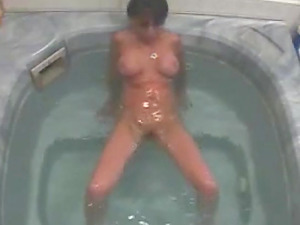 My hot wife loves to masturbate in bath