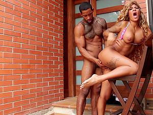 Busty Latina MILF bombshell Venus Afrodita takes a big black cock