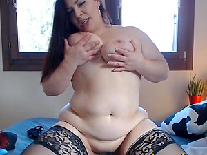 Chubby Cheerful Brunette Naughty Live On Webcam