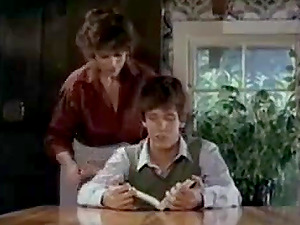 Horny Kay Parker catches the boy