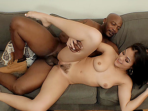 Interracial deep throat and doggy style with an Asain MILF Malena