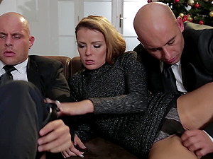 Hardcore MMF threesome wit hbusty brunette Samantha Johnson