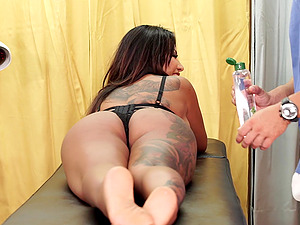 Latina brunette MILF Candy pounded and covered with cum